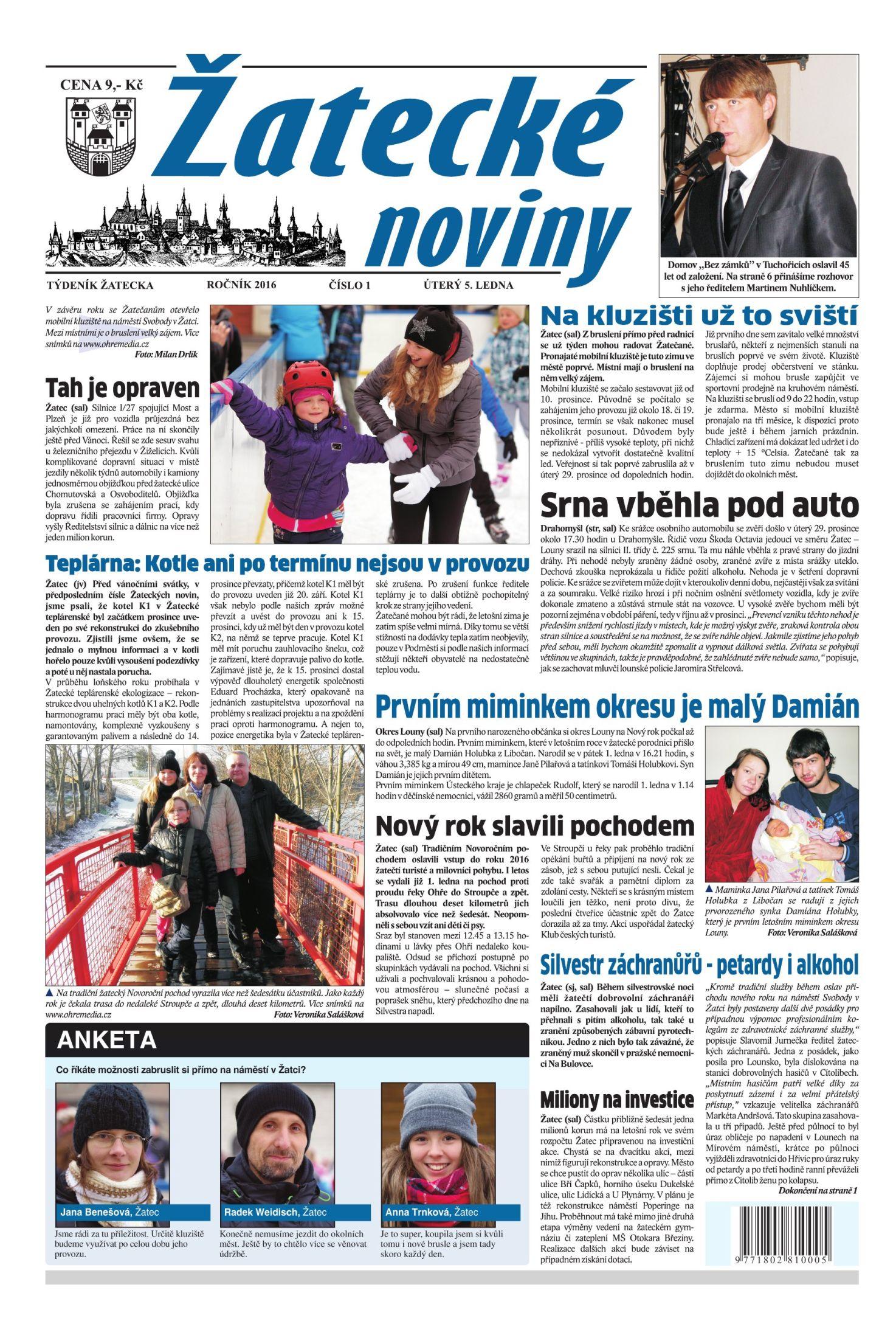 obálka Žatecké noviny