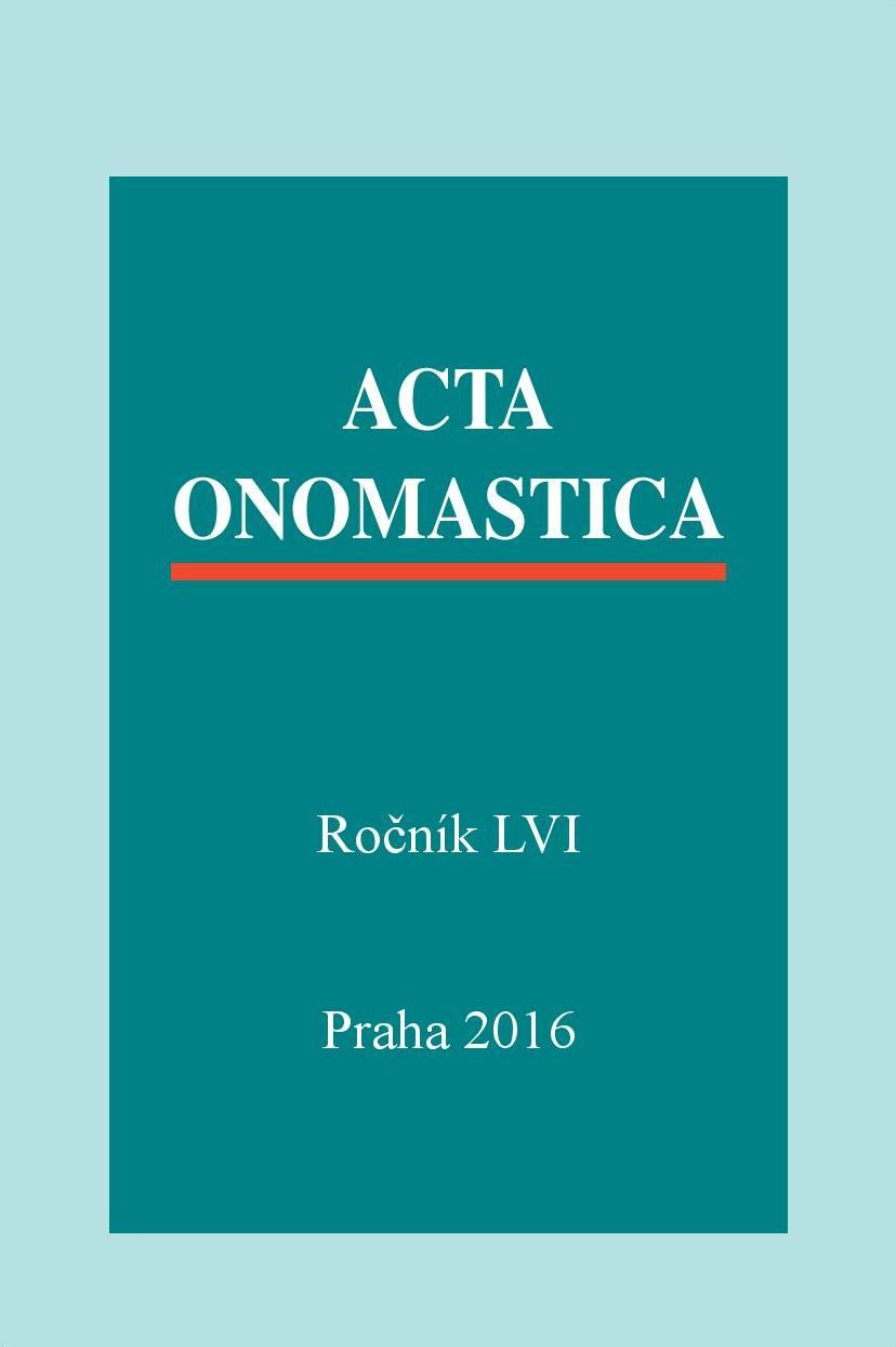 obálka Acta onomastica