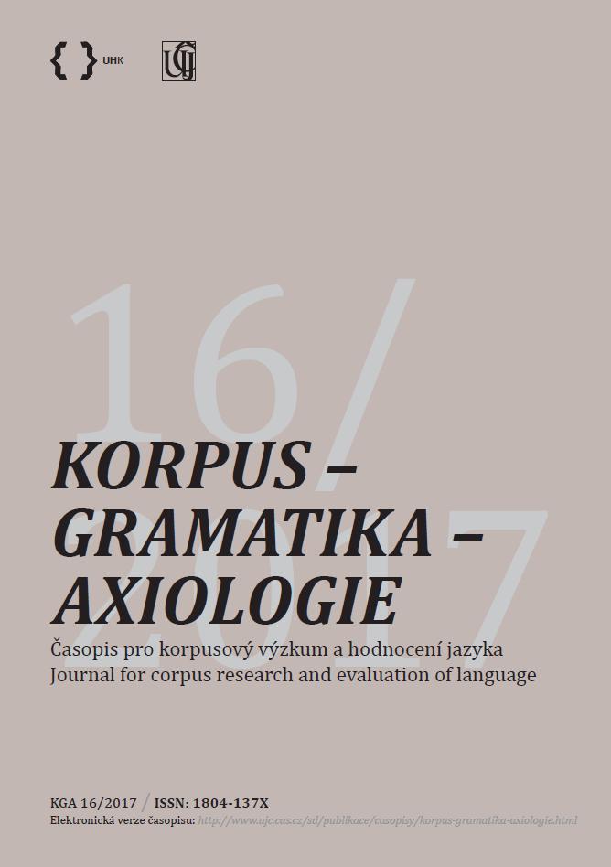 obálka Korpus - gramatika - axiologie